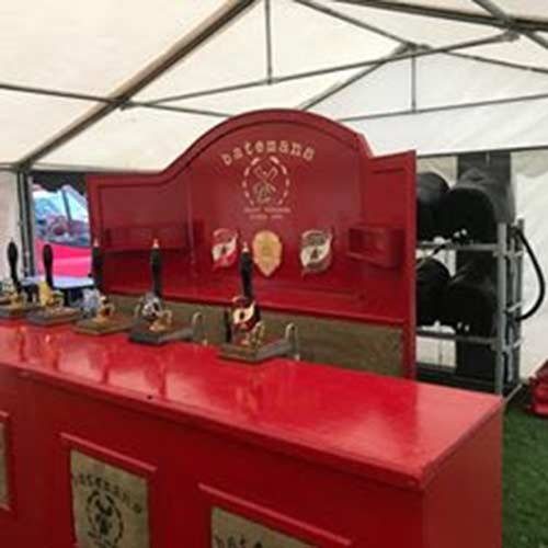A bar set-up we installed at a beer festival for one of our clients,