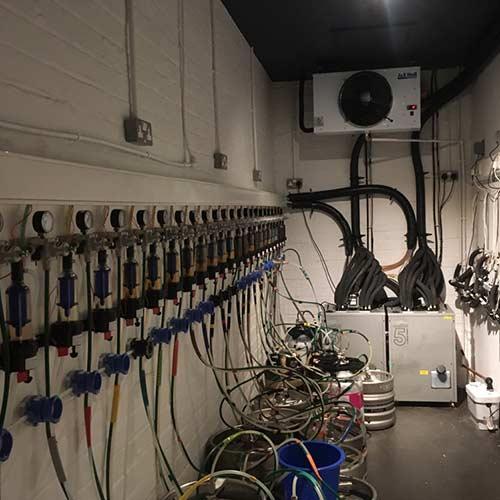 Cellar systems in a pub cellar